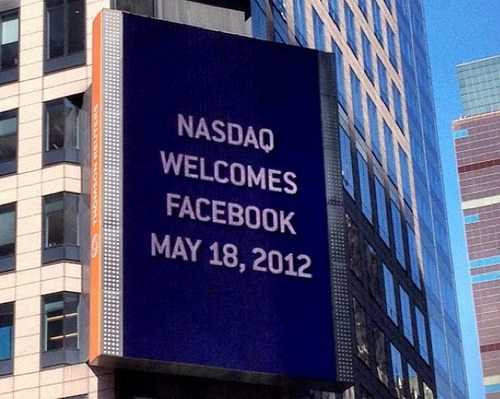 Facebook Sign for Nasdaq